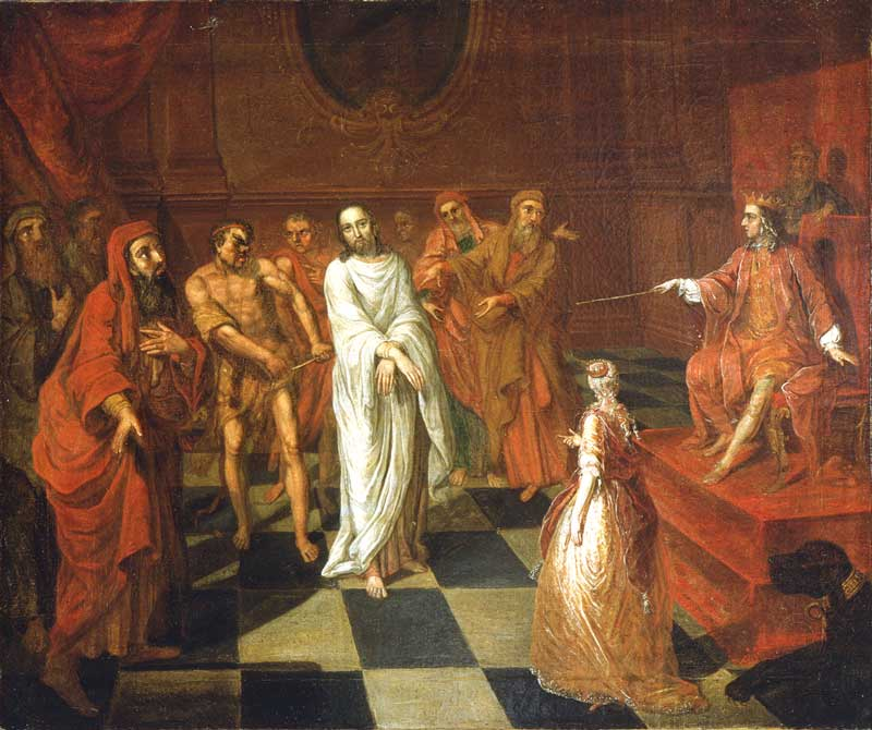 john valentine haidt painting of christ before herod at the